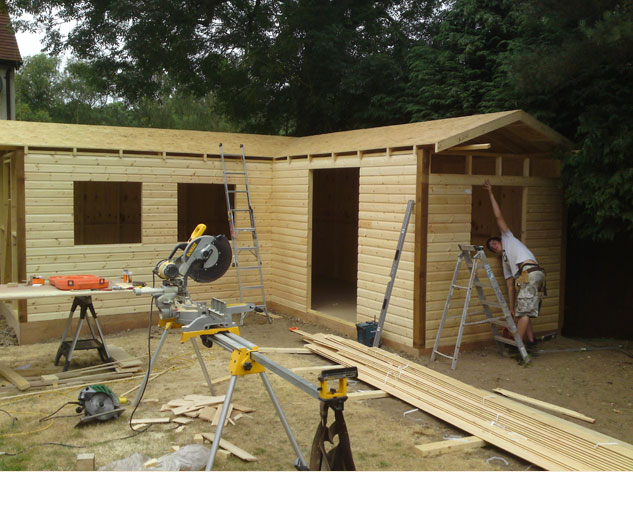 Man Caves Made Out Of Sheds : Garden rooms man caves colchester